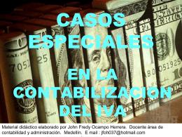 CASOS ESPECIALES - ContaJ | Soluciones Contables