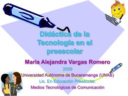 Didáctica de la Tecnología en el preescolar