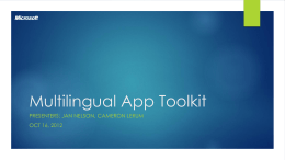 Multilingual App Toolkit