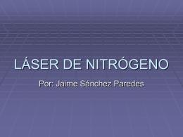 LÁSER DE NITRÓGENO - INAOE