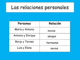 Las relaciones personales - Languages Resources |