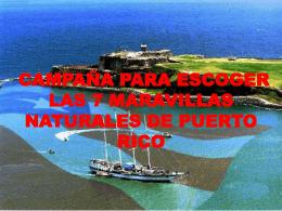 LAS SIETE MARAVILLAS DE PUERTO RICO