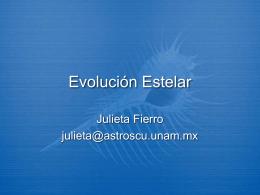 Evolución Estelar - Instituto de Astronomía