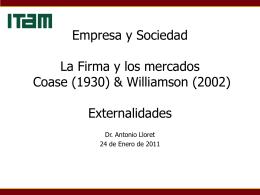 Empresa y Sociedad Tema 1. Teoría de la Empresa y