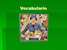 Vocabulario Comida