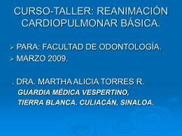 CURSO DE REANIMACION CARDIOPULMONAR BASICO