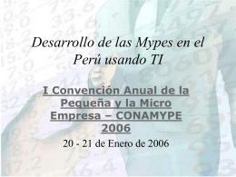 Número de MYPEs formales a nivel nacional