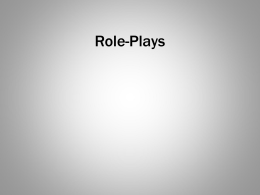 Role-Plays