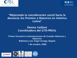 Diapositiva 1 - Premio compartir al maestro