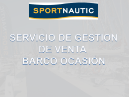 Diapositiva 1 - SPORTNAUTIC. BARCOS Y CHARTERS