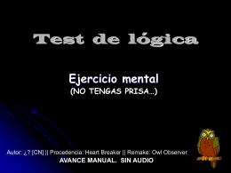 Test de lógica.