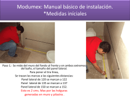 Modumex Manual básico de instalación