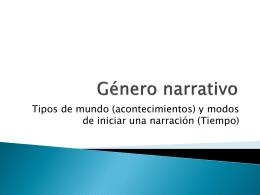 Género narrativo - Lenguaje y Comunicación |