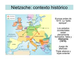 Nietzsche: contexto histórico