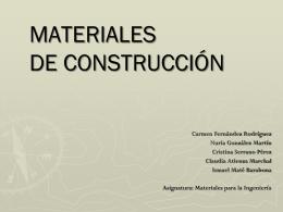 Cemento - Universidad Autónoma de Madrid