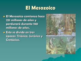 El Mesozoico