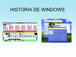 HISTORIA DE WINDOWS - mmlopez