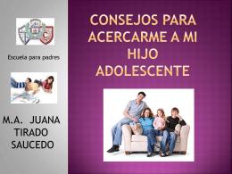 CONSEJOS PARA ACERCARME A MI HIJO ADOLESCENTE