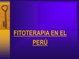 FITOTERAPIA EN EL PERÚ