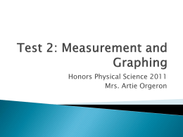 Test 2: Measurement and Graphing