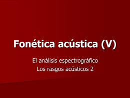 Fonética acústica (V)