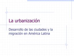 La urbanización