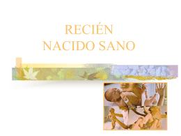 RECIEN NACIDO SANO Historia clínica