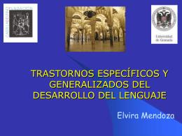 TRASTORNOS ESPECÍFICOS Y GENERALIZADOS DEL