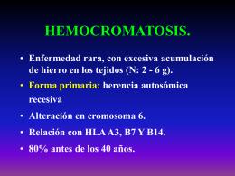 HEMOCROMATOSIS.
