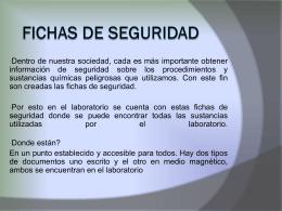 Fichas de seguridad - De Prevencion, Salud