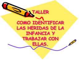 TALLER LAS HERIDAS DE LA INFANCIA
