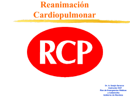 Reanimación Cardiopulmonar - PAHO/WHO