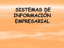 TEMA 1: SISTEMAS DE INFORMACIÓN EMPRESARIAL