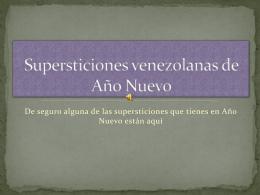 Supersticiones venezolanas de Año nuevo