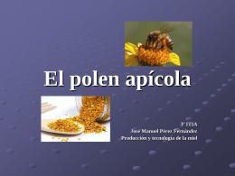 El polen apícola