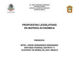LIC. JORGE HERNÁNDEZ HERNÁNDEZ DIPUTADO FEDERAL