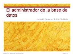 El administrador de la base de datos