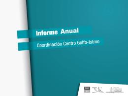 Informe de Avance - Coordinación Centro Golfo