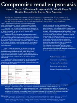 Compromiso renal en psoriasis Autores: Goszko C,