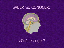 SABER vs. CONOCER: