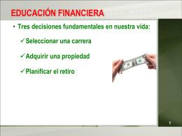 EDUCACION FINANCIERA - Facultad de Derecho -