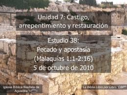 Malaquías - Iglesia Biblica Bautista de Aguadilla,