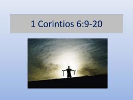 1 Corintios 6:9-20