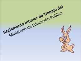 Reglamento Interior de Trabajo del Ministerio de