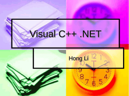 Visual C++ .NET