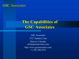GSC Associates capabilities