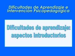 DIFICULTADES DE APRENDIZAJE: C. ESTRICTA