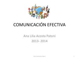 COMUNICACIÓN EFECTIVA - Ana Lilia Acosta Patoni