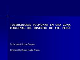 TUBERCULOSIS PULMONAR EN UNA ZONA MARGINAL DEL