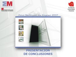 PRESENTACIÓN DE CONCLUSIONES